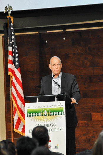 Governor Jerry Brown at CALPIA Employer Forum