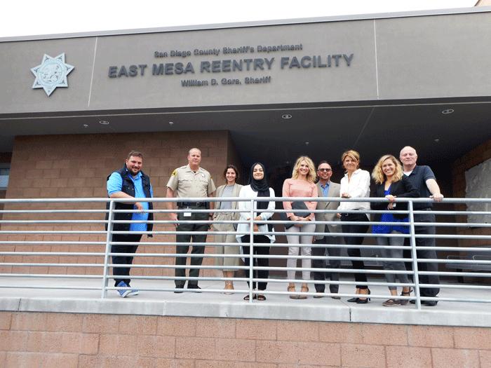 German delegation at East Mesa Reentry Facility