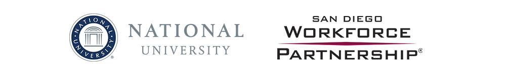 Presenter logos: National University & San Diego Workforce Partnership