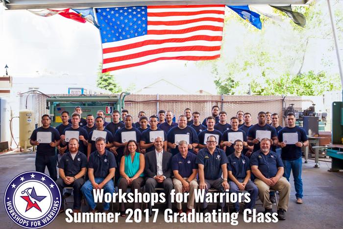 Workshops for Warriors graduating class