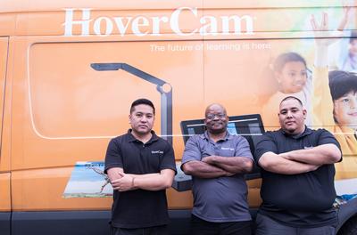 Hovercam team with intern