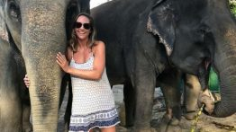Kerri with elephant