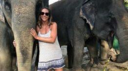 Kerri with elephant