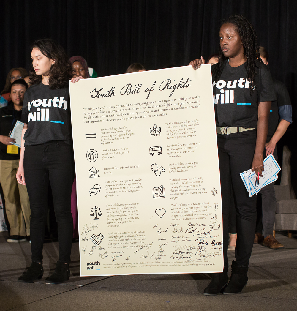 Youth Will Youth Bill of Rights at Opportunity Summit 2019
