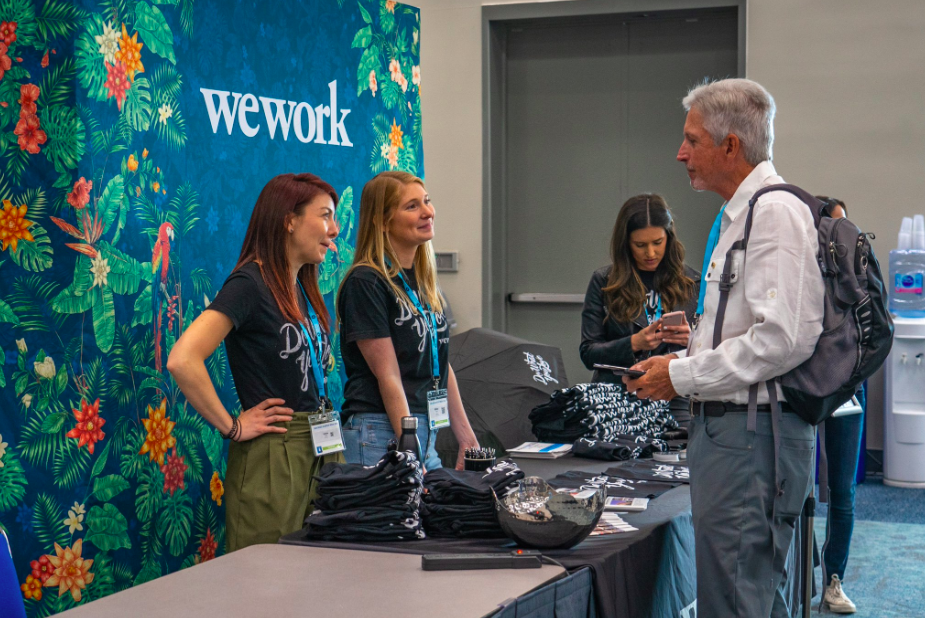 WeWork booth networking
