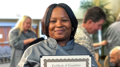 Charla Walls Kitchens for Good class 16 graduation