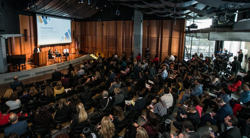 Auditorium full of people
