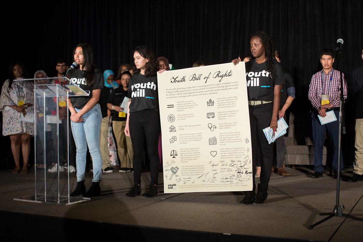Young adults present Youth Bill of Rights