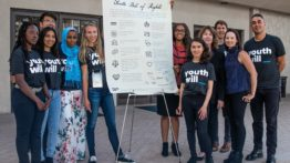 Youth Will group with Bill of Rights
