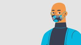 Illustration Of Man In Mask