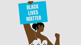 Illustration Of Woman Holding Black Lives Matter Sign