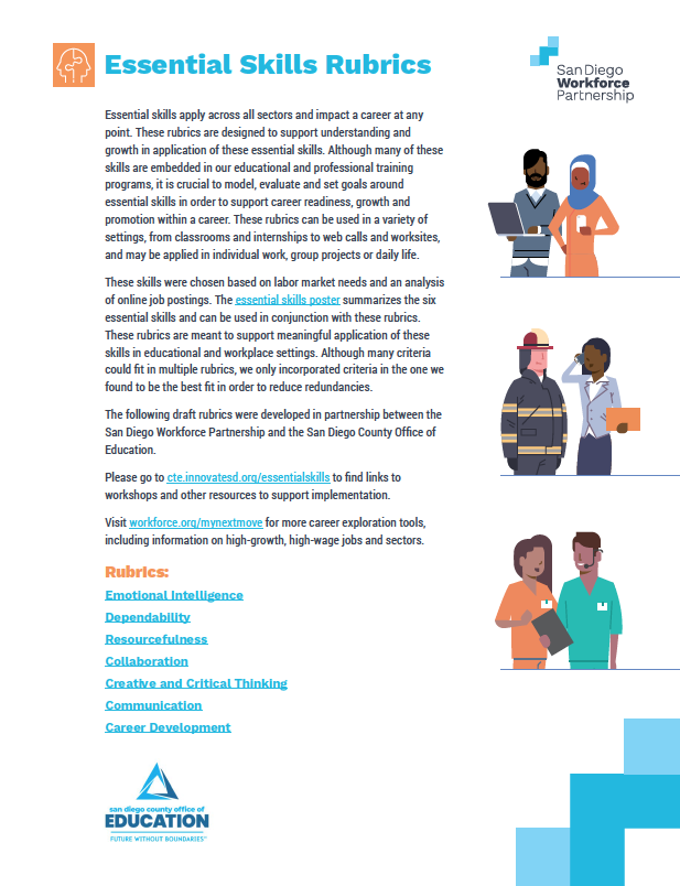 thumbnail of essential skills rubrics PDF