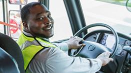 Male Bus Driver Thumb